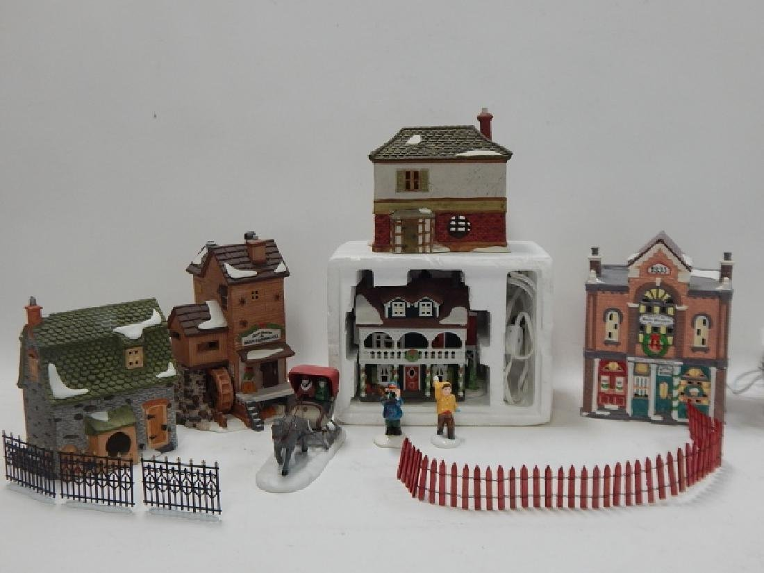 ASSORTED DEPARTMENT 56 VILLAGE PCS