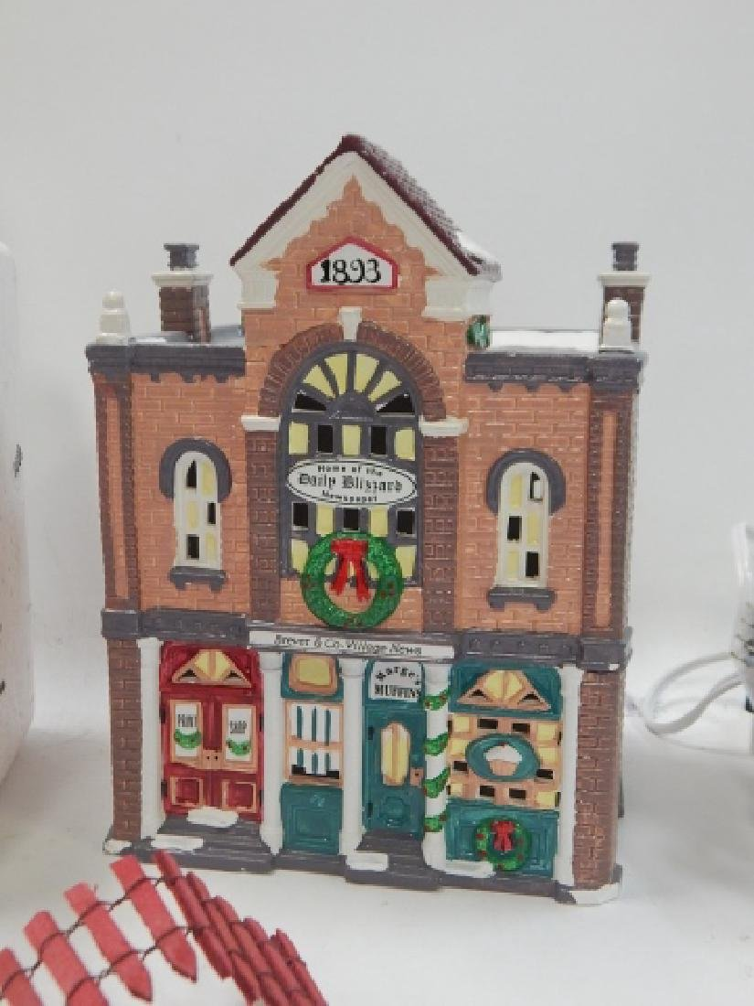 ASSORTED DEPARTMENT 56 VILLAGE PCS - 3