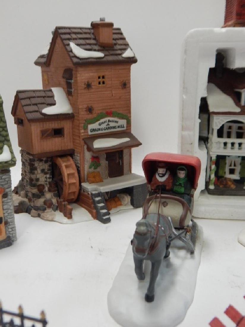 ASSORTED DEPARTMENT 56 VILLAGE PCS - 4