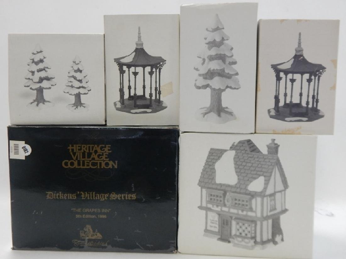 6 PC. DEPARTMENT 56 HERITAGE VILLAGE COLLECTION