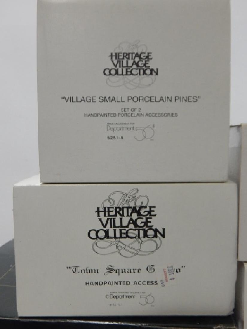 6 PC. DEPARTMENT 56 HERITAGE VILLAGE COLLECTION - 7