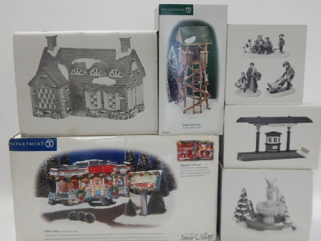 6 PC. DEPARTMENT 56 VILLAGE COLLECTION
