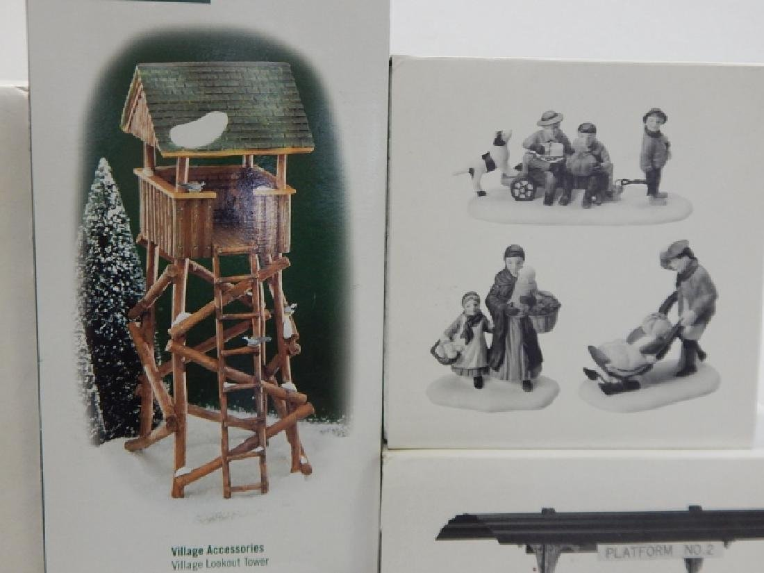 6 PC. DEPARTMENT 56 VILLAGE COLLECTION - 3