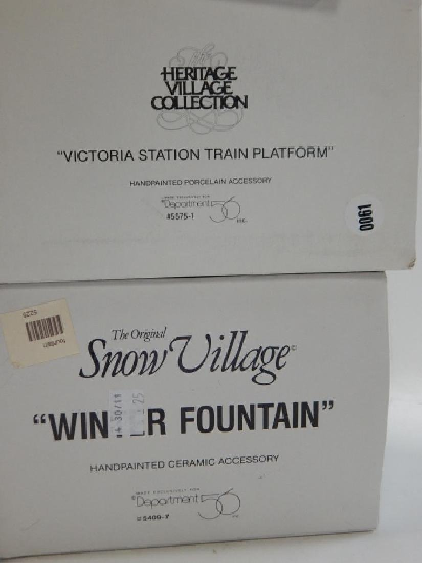 6 PC. DEPARTMENT 56 VILLAGE COLLECTION - 7