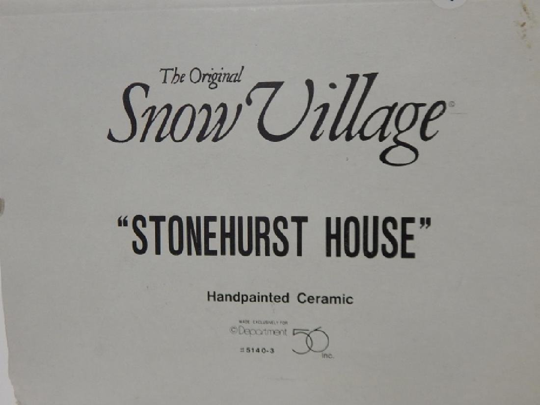 6 PC. DEPARTMENT 56 VILLAGE COLLECTION - 8