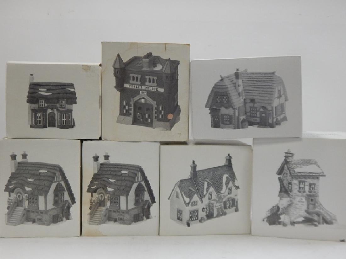 7 PC.  DEPARTMENT 56 HERITAGE VILLAGE COLLECTION