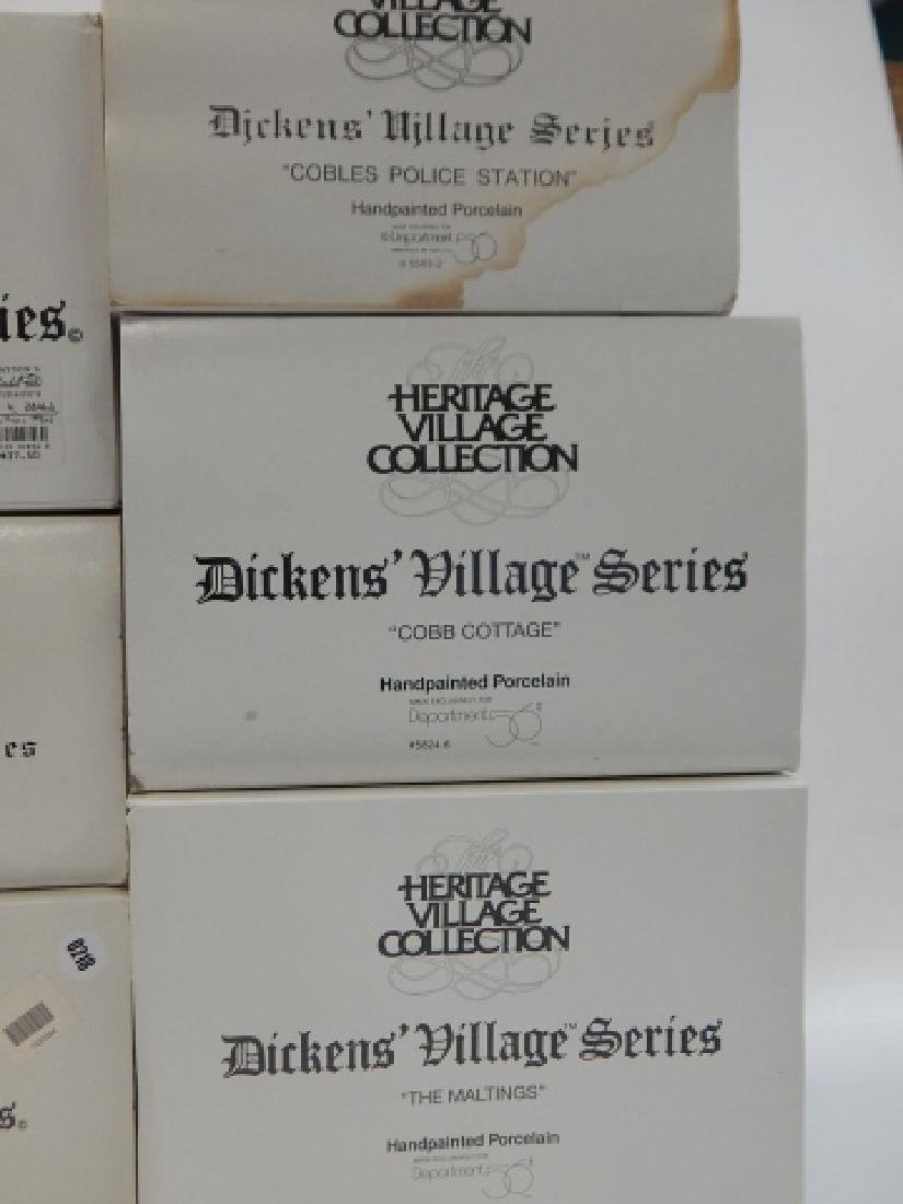 7 PC.  DEPARTMENT 56 HERITAGE VILLAGE COLLECTION - 7