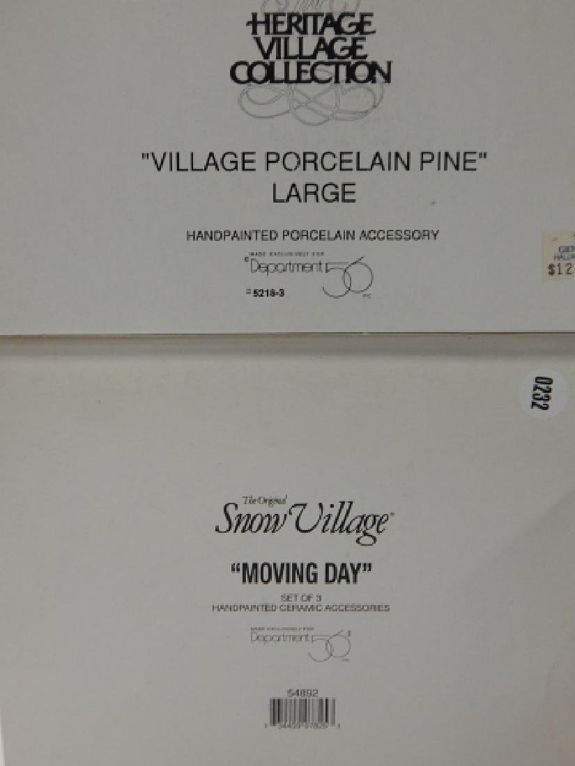 6 PC DEPARTMENT 56 HERITAGE VILLAGE COLLECTION - 7