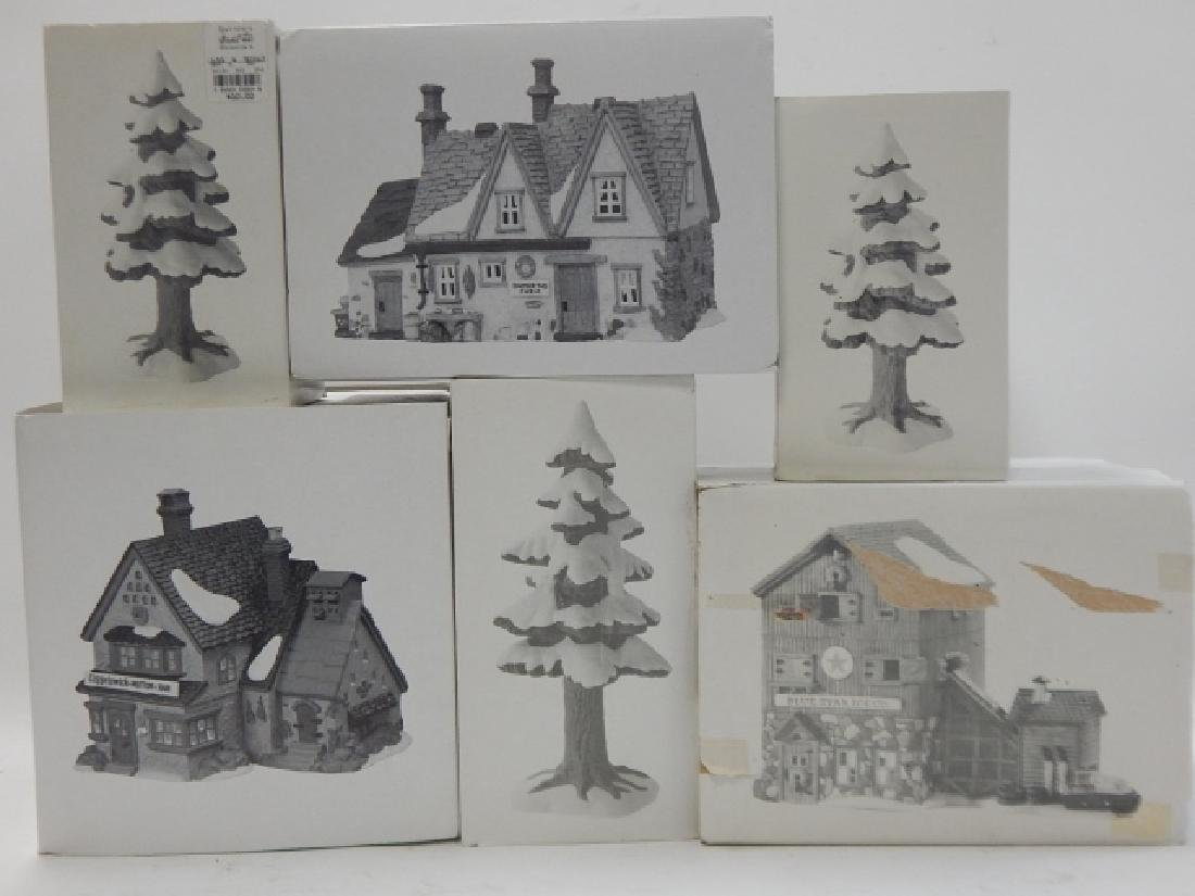 6 PC. DEPARTMENT 56 OF HERITAGE VILLAGE COLLECTION