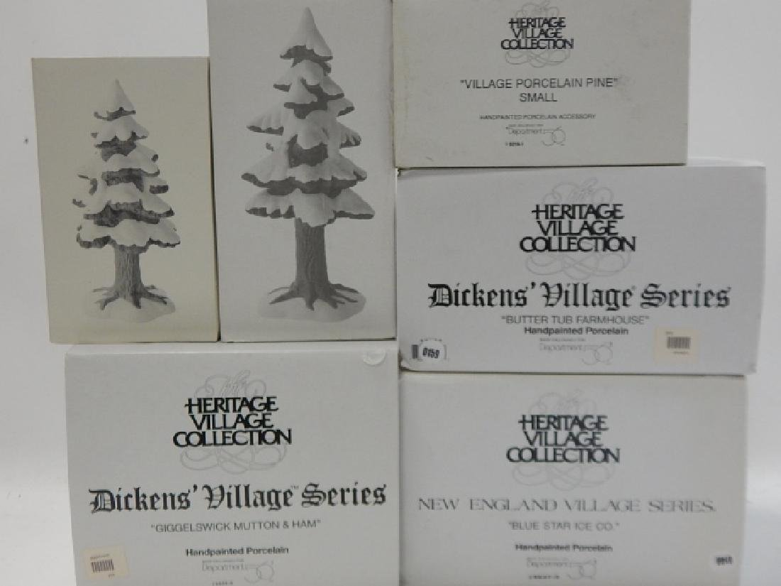 6 PC. DEPARTMENT 56 OF HERITAGE VILLAGE COLLECTION - 5