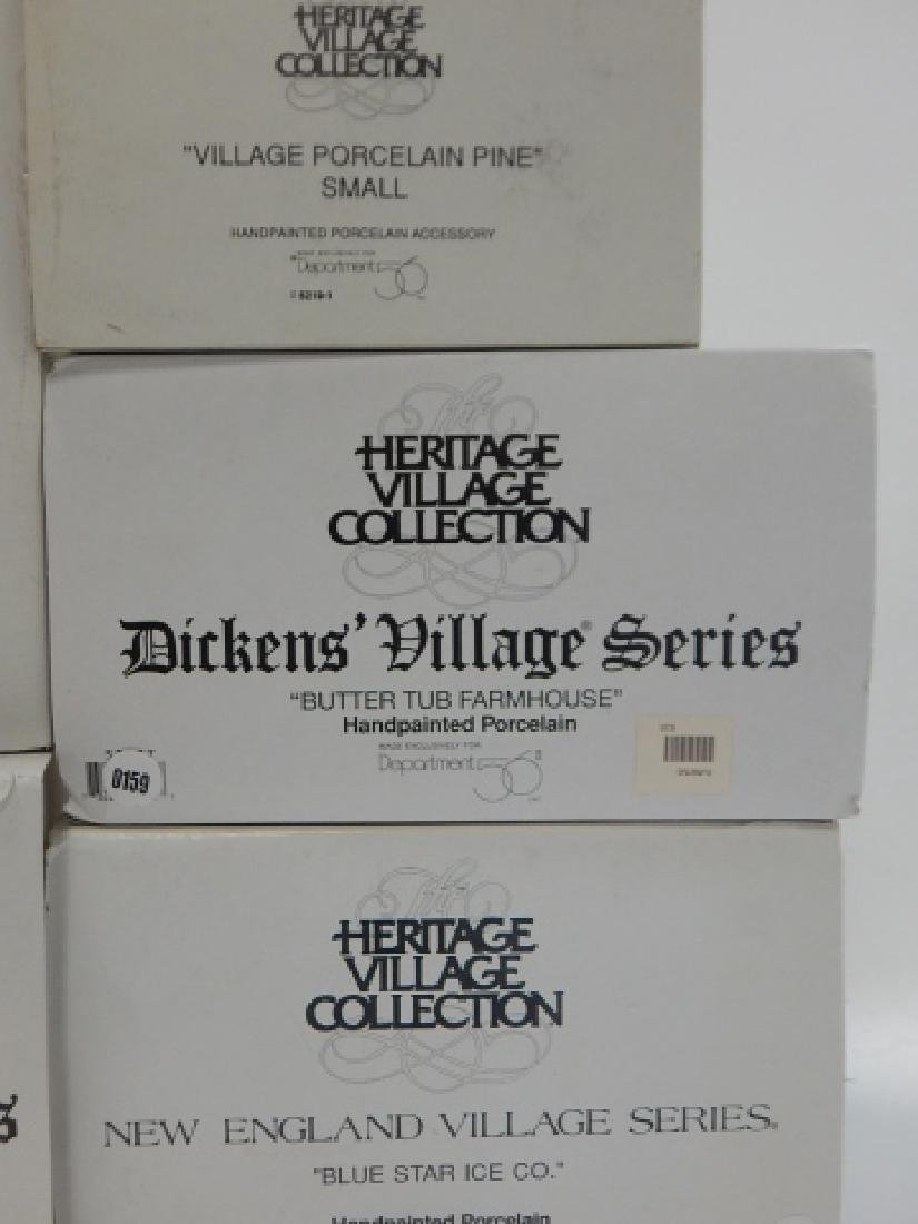 6 PC. DEPARTMENT 56 OF HERITAGE VILLAGE COLLECTION - 6