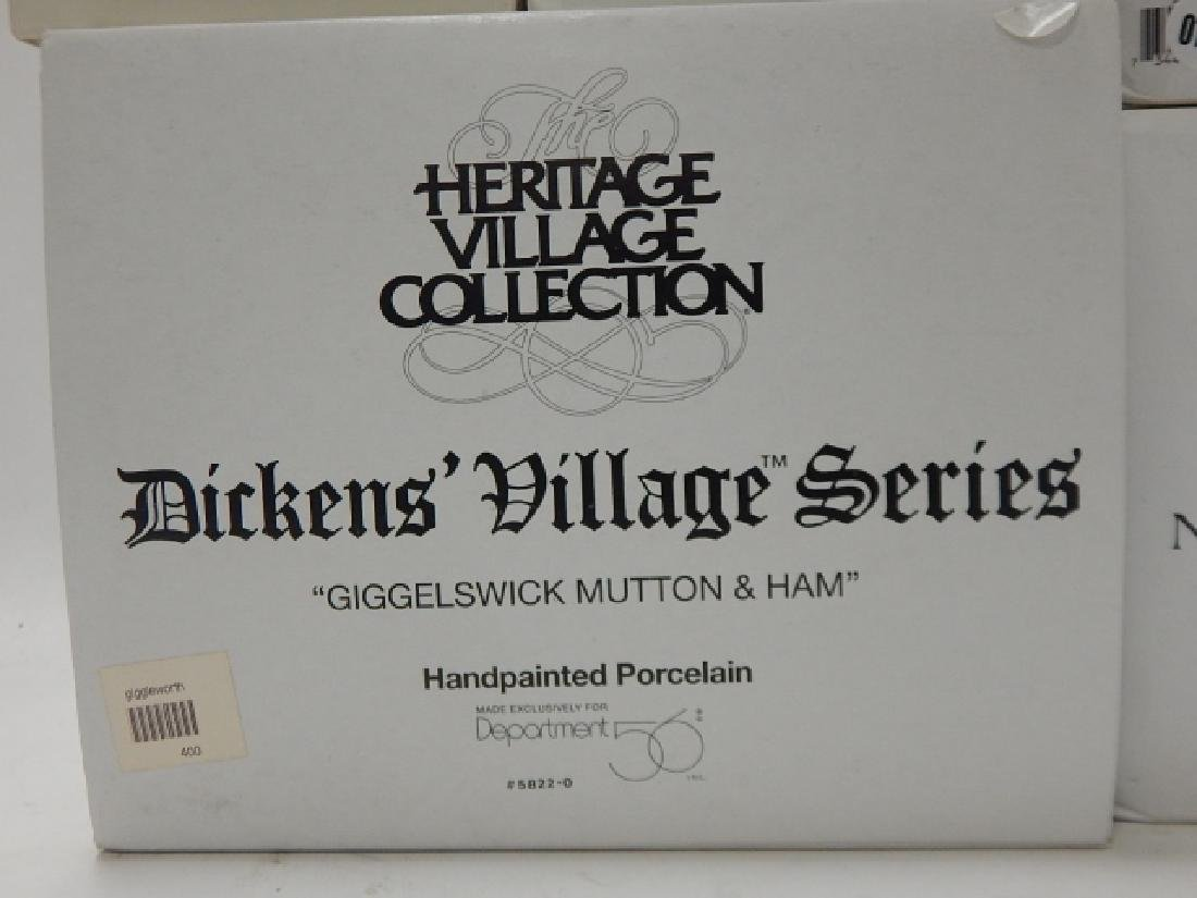 6 PC. DEPARTMENT 56 OF HERITAGE VILLAGE COLLECTION - 7