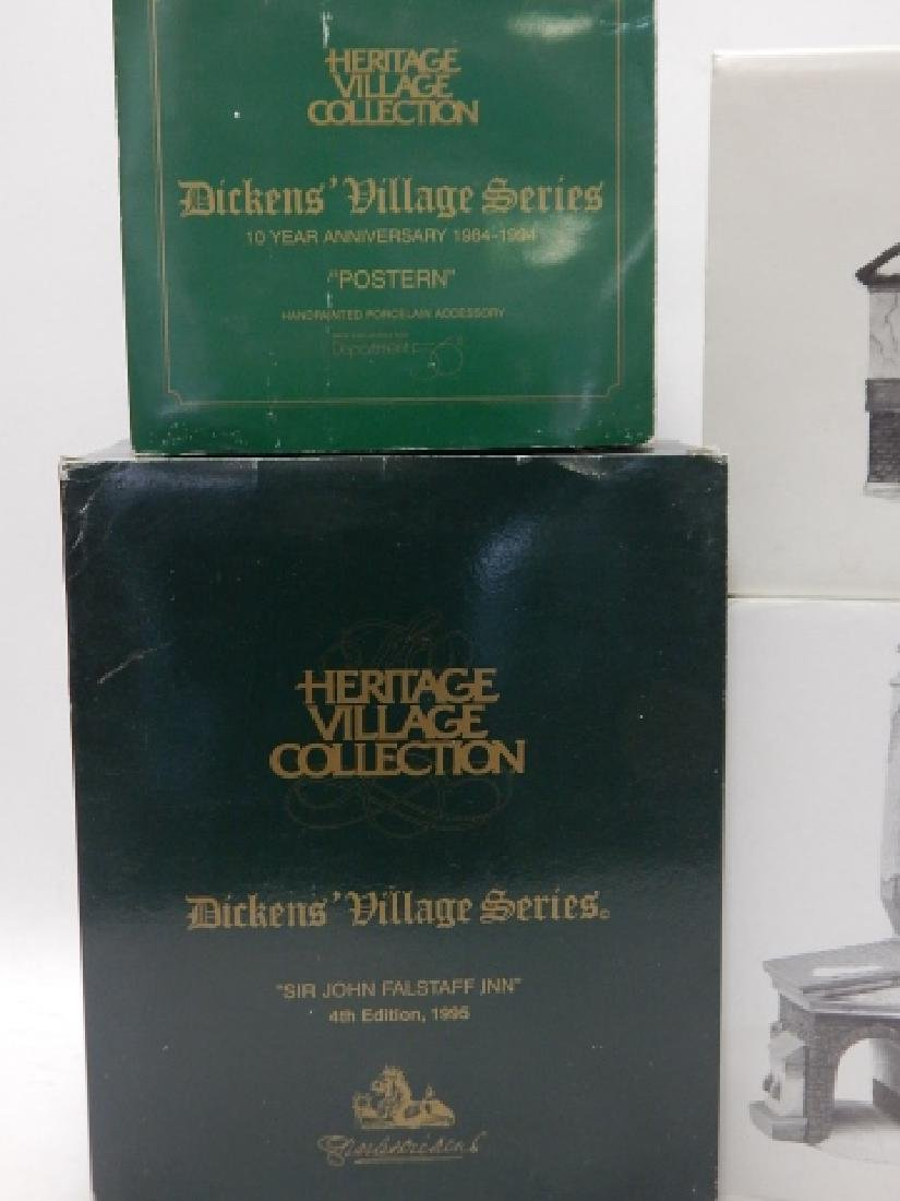 6 PC. DEPARTMENT 56 HERITAGE VILLAGE COLLECTION - 2