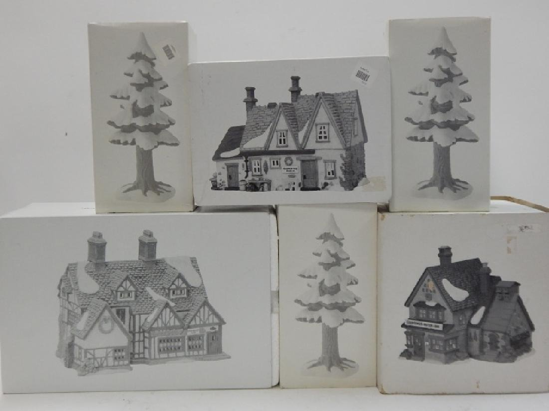 6 PC DEPARTMENT 56 OF HERITAGE VILLAGE COLLECTION