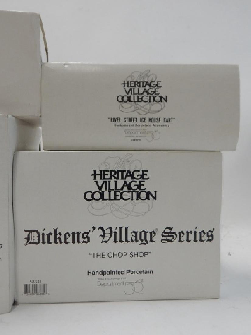 6 PC. DEPARTMENT 56 HERITAGE VILLAGE COLLECTION - 8