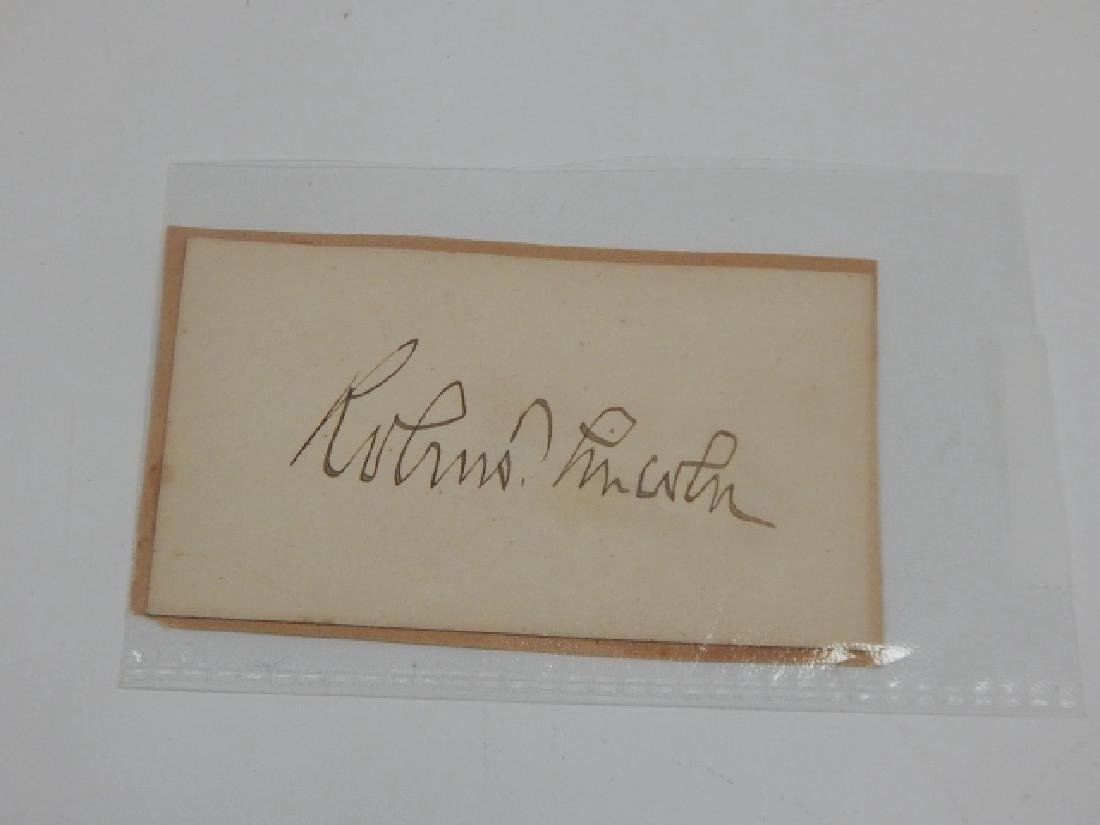 ROBERT T LINCOLN AUTOGRAPHED CARD