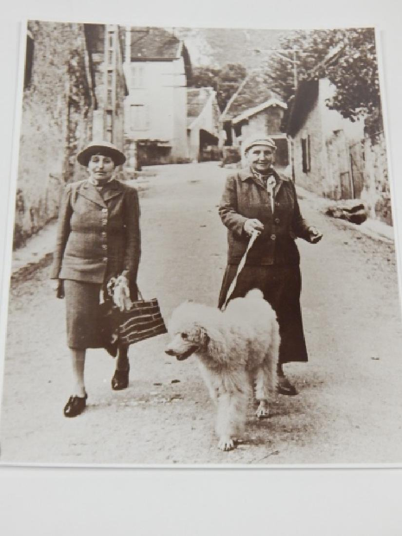 TWO PHOTOS OF GERTRUDE STEIN AND ALICE TOKLAS