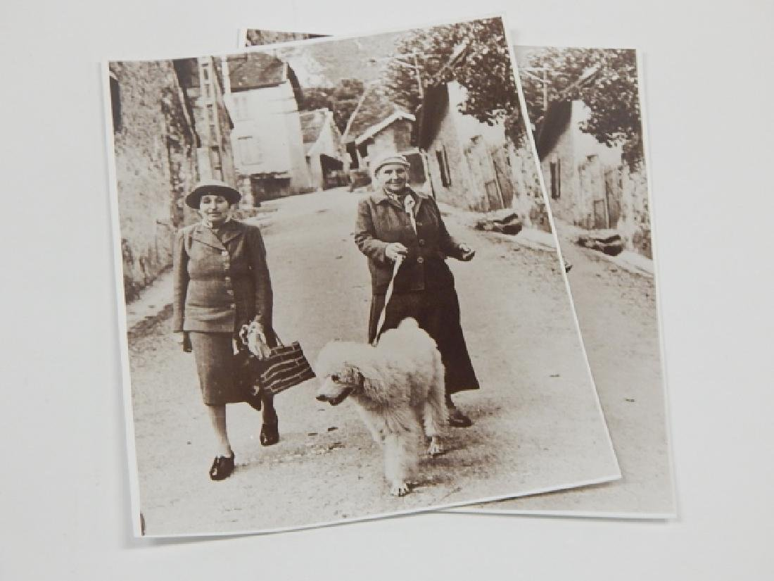 TWO PHOTOS OF GERTRUDE STEIN AND ALICE TOKLAS - 2