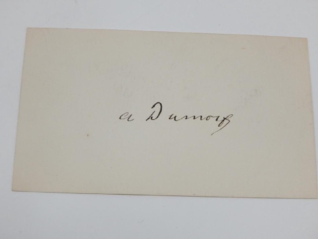 ALEXANDRE DUMAS FILS AUTOGRAPHED CARD