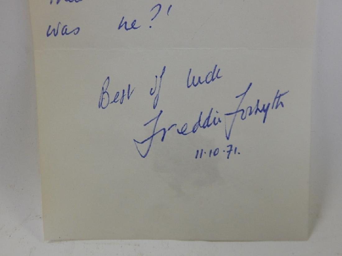 FREDERICK MCCARTHY FORSYTH SIGNED LETTER - 2