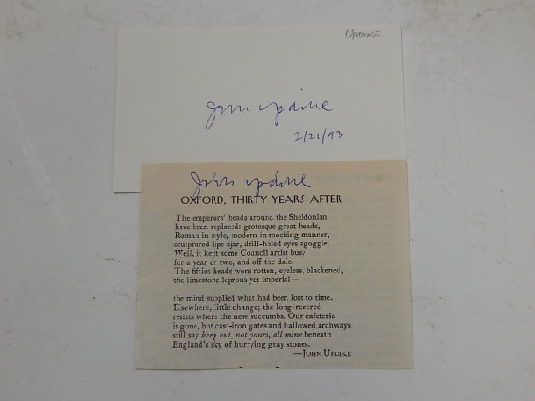 JOHN H. UPDIKE & JAMES A. MICHENER AUTOGRAPHS