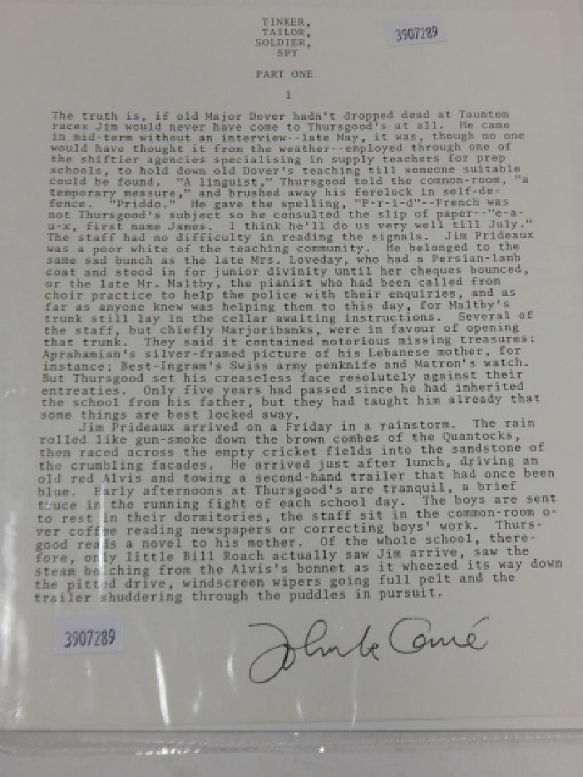 JOHN LE CARRE (DAVID CORNWELL) AUTOGRAPHED