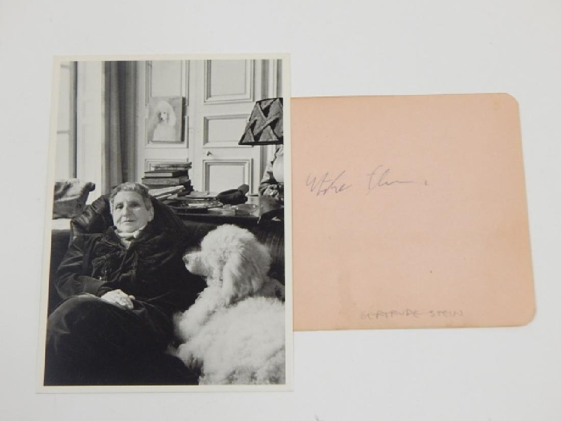 GERTRUDE STEIN PHOTO AND AUTOGRAPH