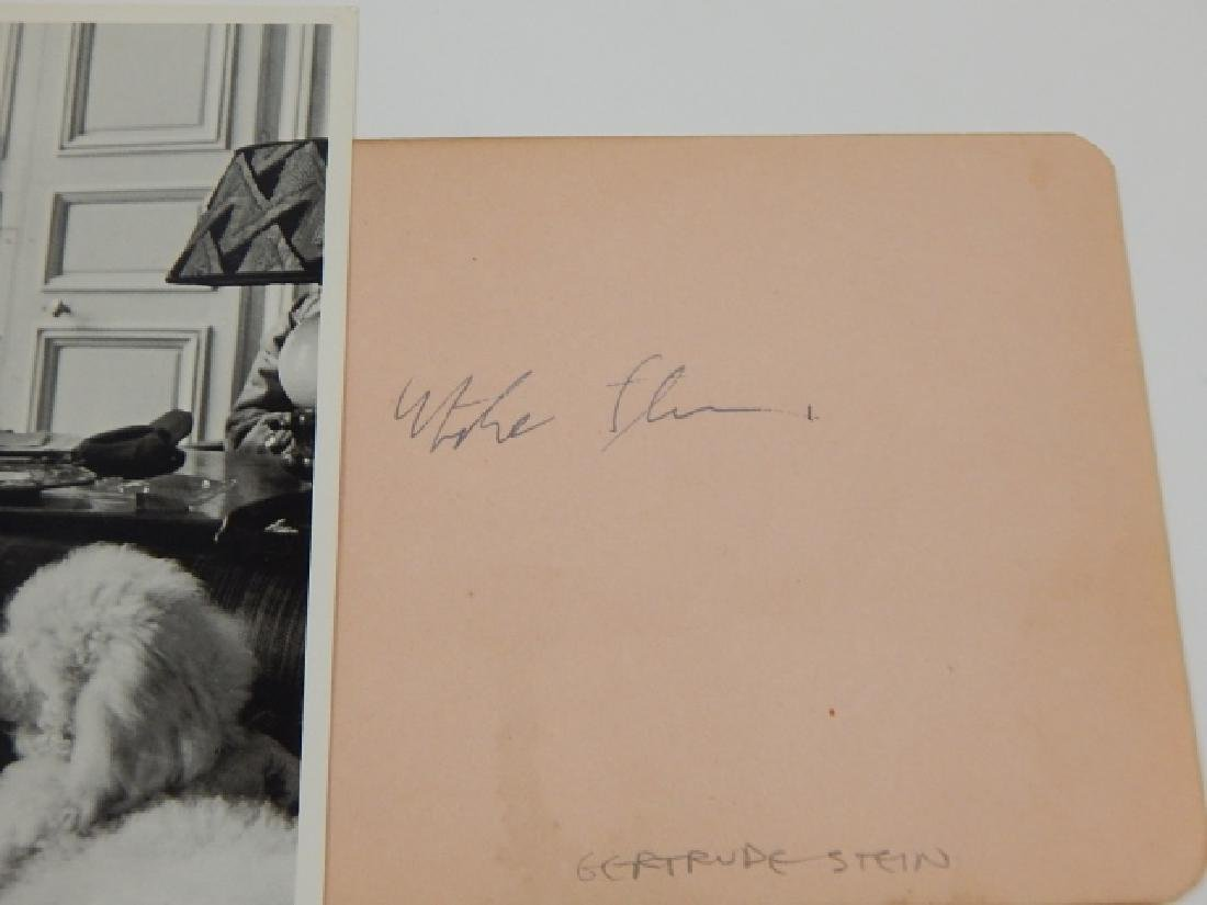 GERTRUDE STEIN PHOTO AND AUTOGRAPH - 2