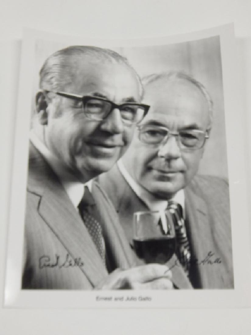 ERNEST AND JULIO GALLO AUTOGRAPH