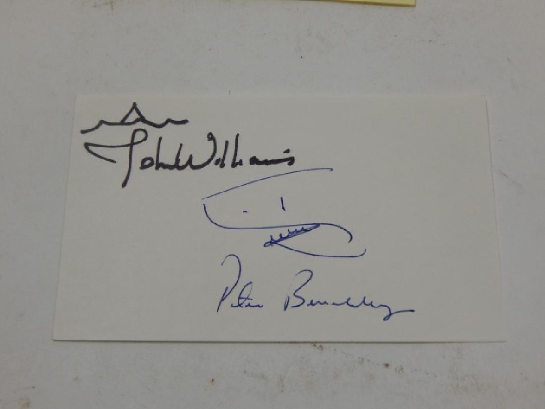 PETER B. BENCHLEY & MARIO GIANLUIGI PUZO AUTOGRAPH