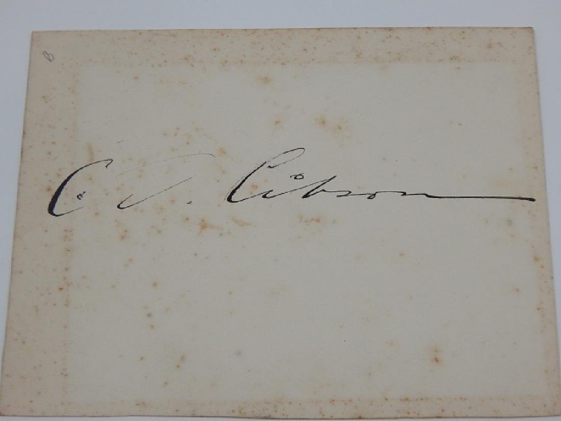 CHARLES GIBSON AUTOGRAPH
