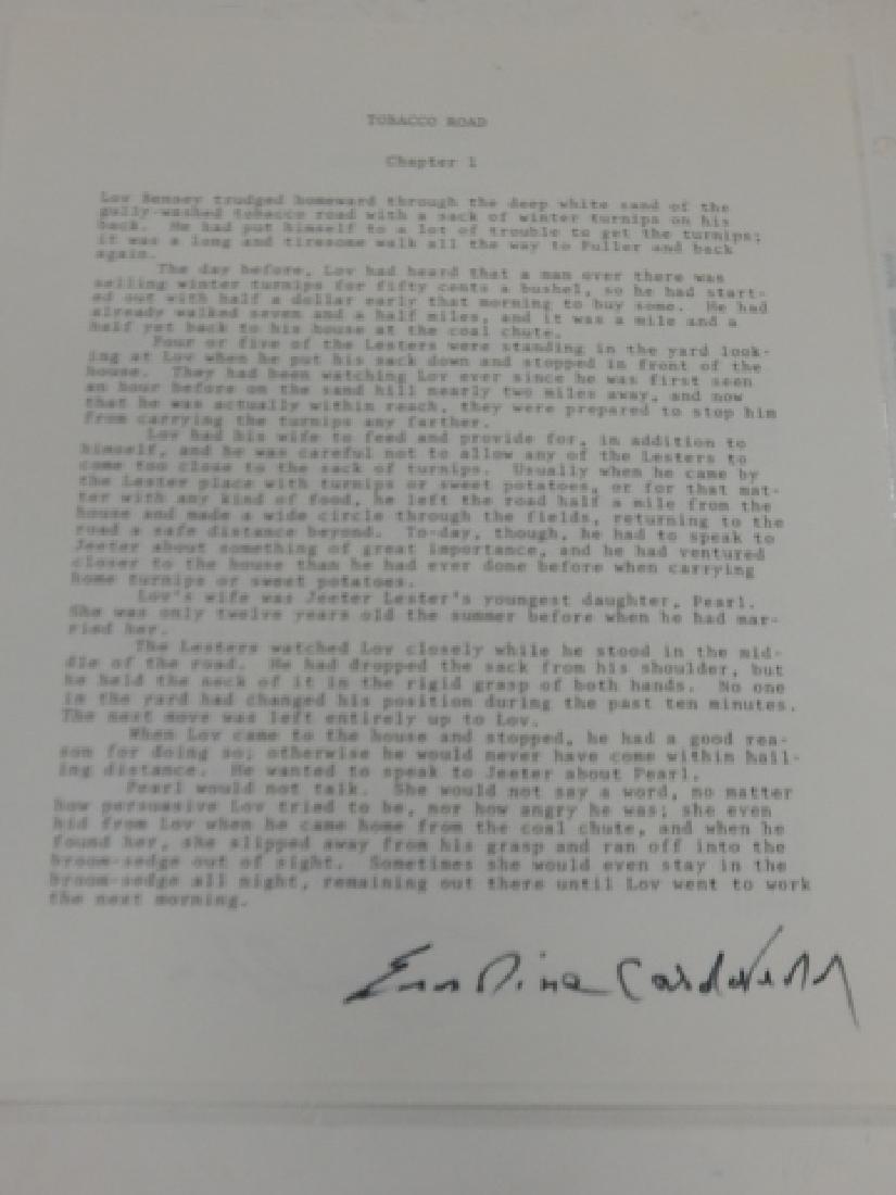 ERSKINE P. CALDWELL & LEON M. URIS AUTOGRAPH