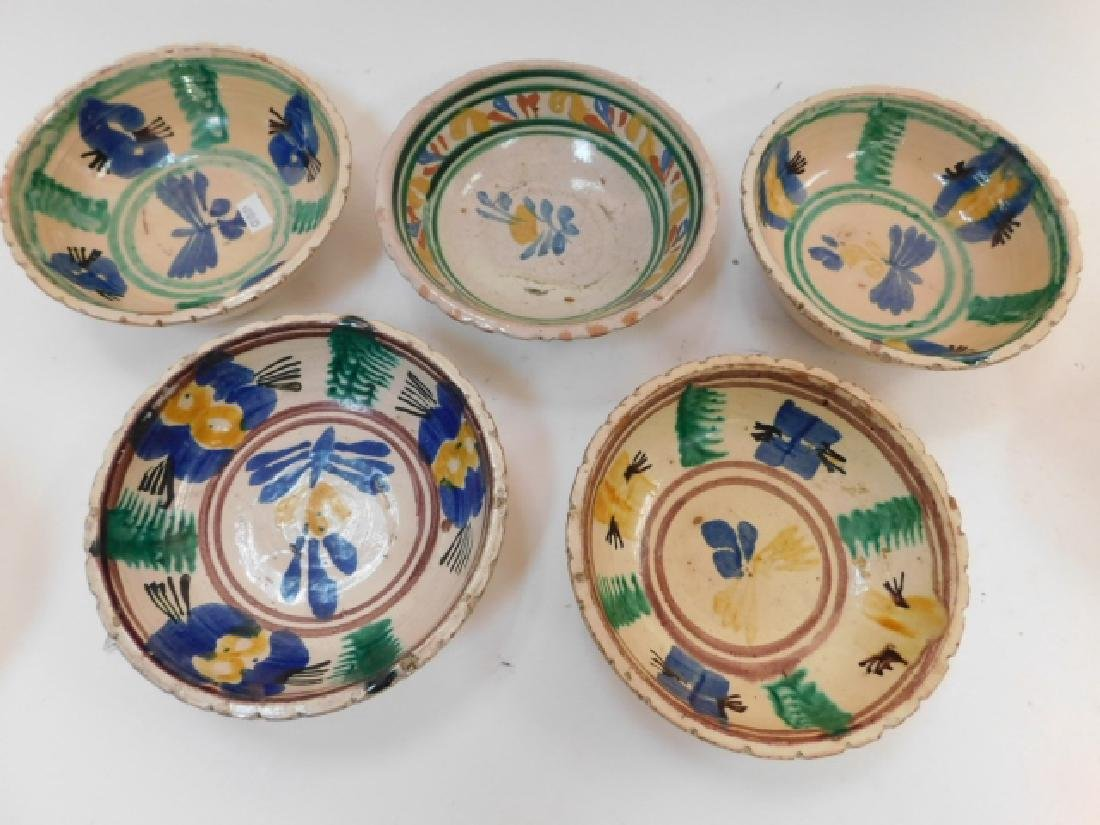 FIVE MEXICAN POTTERY BOWLS