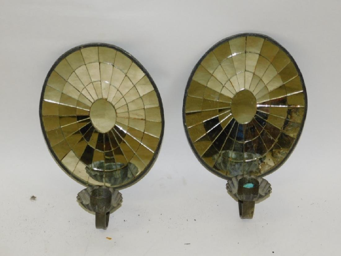 PAIR OF CANDLE REFLECTORS