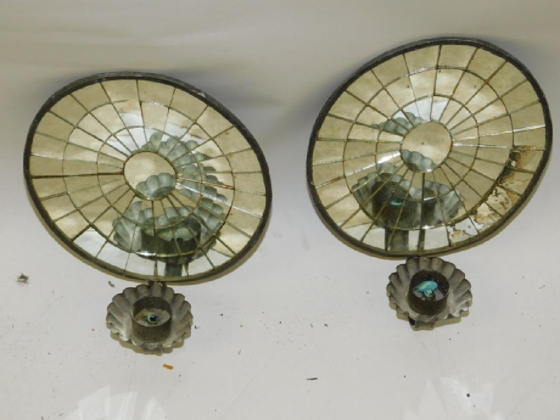 PAIR OF CANDLE REFLECTORS - 2