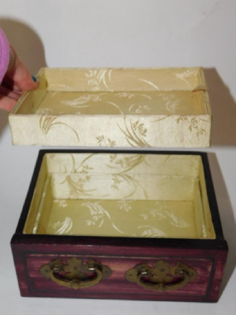 CHINESE JEWELRY BOX WITH BRASS AND BONE CARVINGS - 5