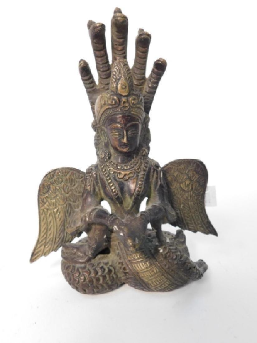 TIBET TIBETAN WINGED NAGA KENYA 5 HEADS SNAKE WOMAN