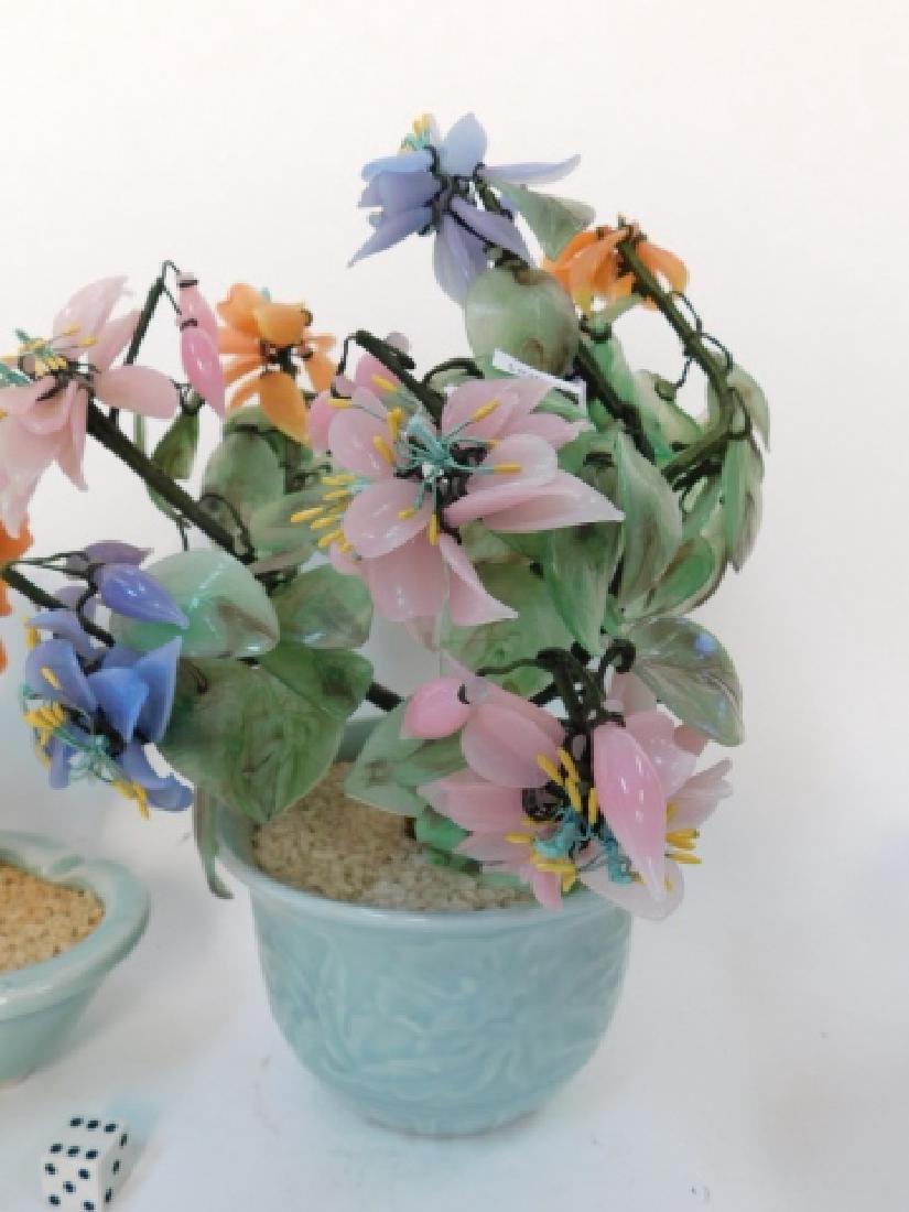JADE FLOWER ARRANGEMENTS IN CELEDON POTS - 2