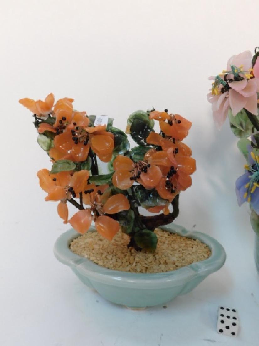 JADE FLOWER ARRANGEMENTS IN CELEDON POTS - 3
