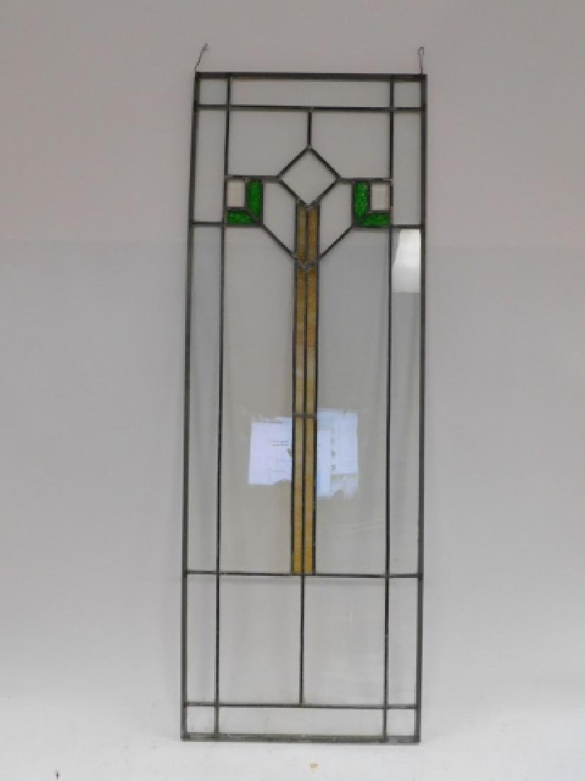 STAINED AND BEVELED GLASS WINDOW