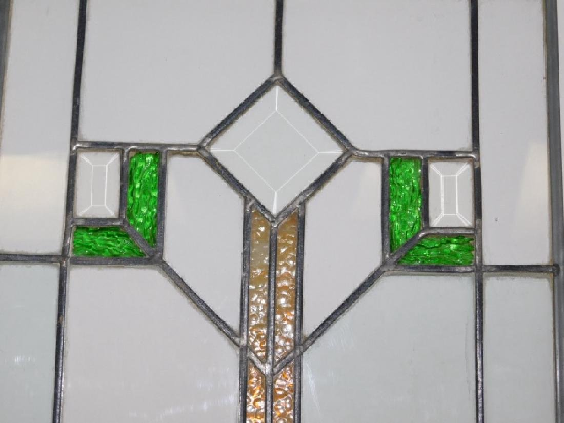 STAINED AND BEVELED GLASS WINDOW - 2