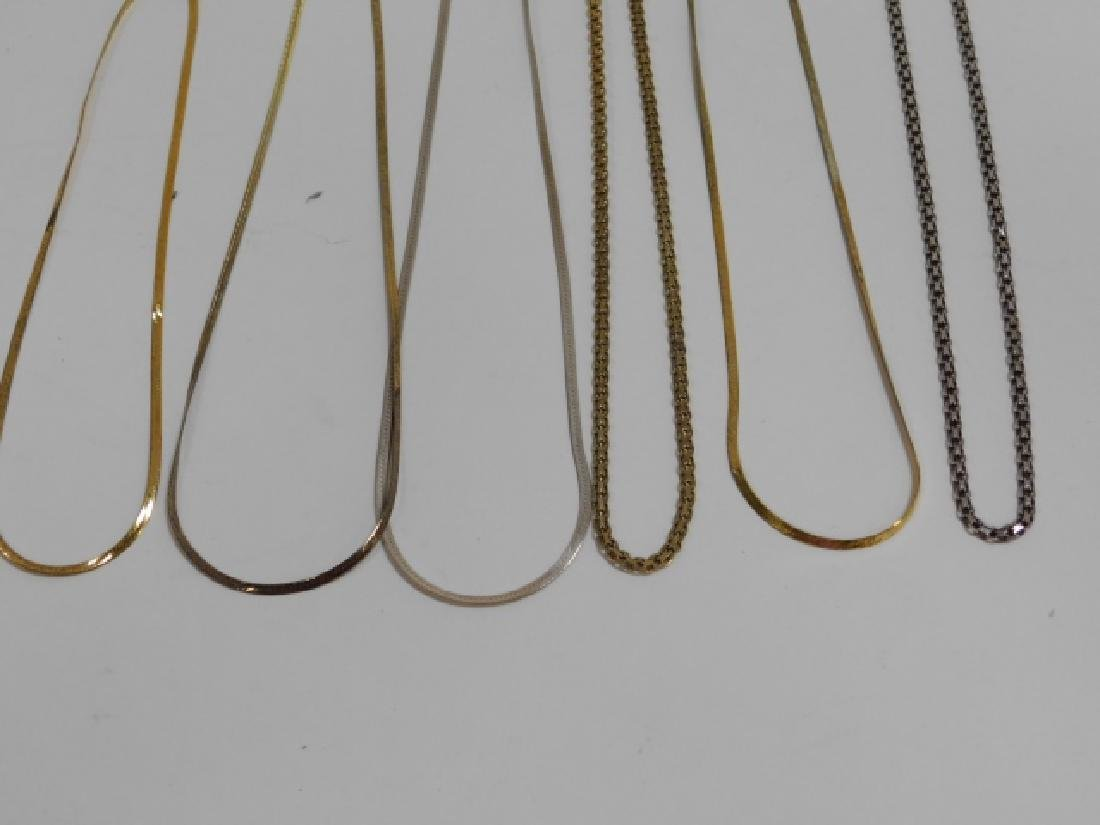 SIX STERLING SILVER CHAINS - 2