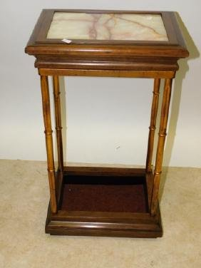 MARBLE TOP UMBRELLA STAND