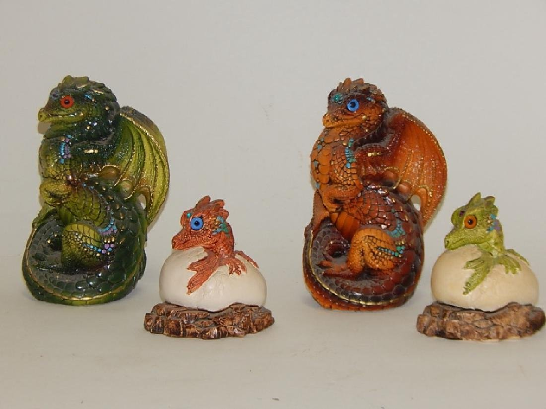 4 PIECE WINDSTONE EDITION DRAGONS - 2