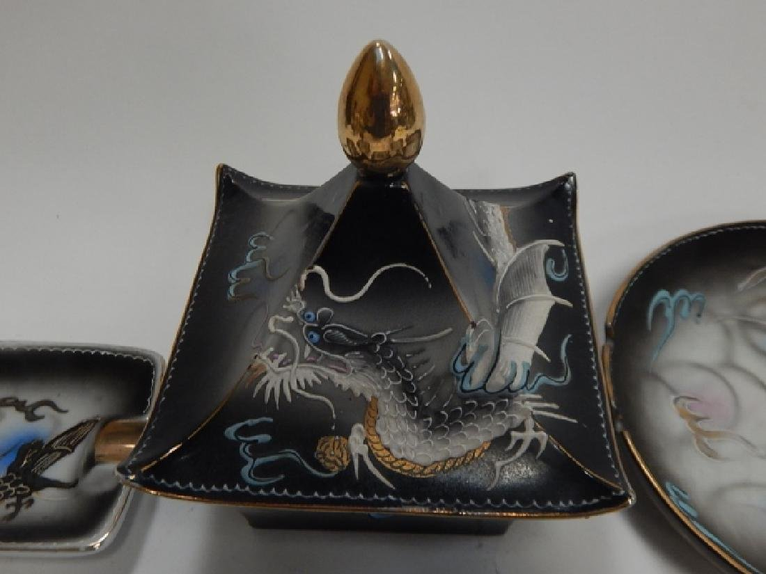 ASSORTED DRAGONWARE DISHES AND ASH TRAYS - 2