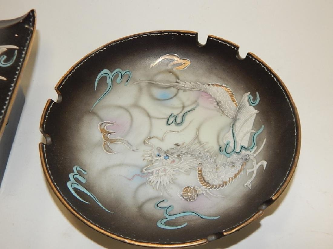 ASSORTED DRAGONWARE DISHES AND ASH TRAYS - 3