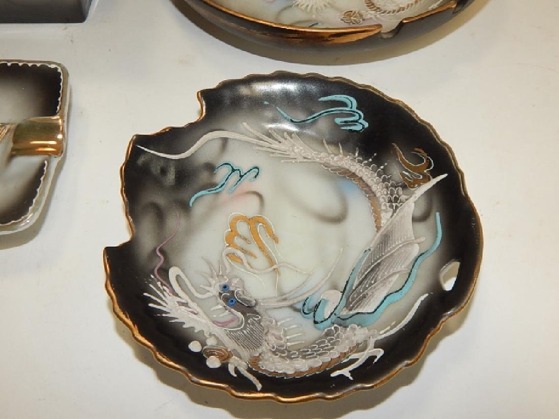ASSORTED DRAGONWARE DISHES AND ASH TRAYS - 4