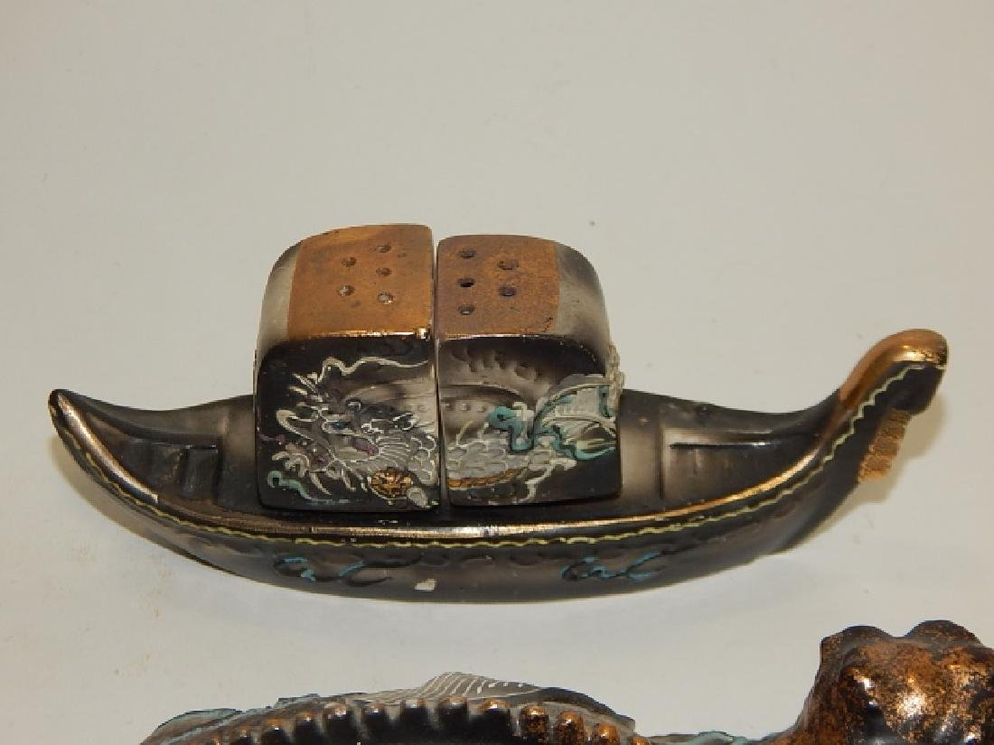 ASSORTED DRAGONWARE COVERED BOX, ASH TRAYS, & MORE - 2
