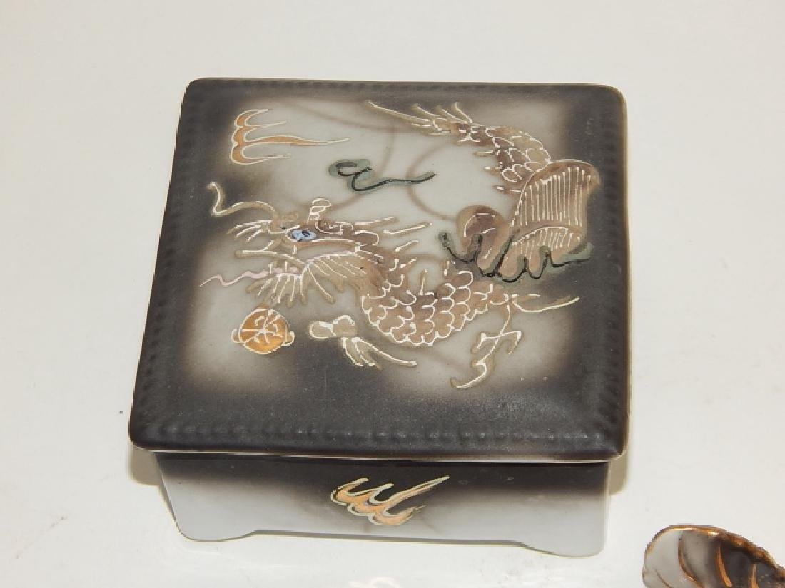 ASSORTED DRAGONWARE COVERED BOX, ASH TRAYS, & MORE - 4