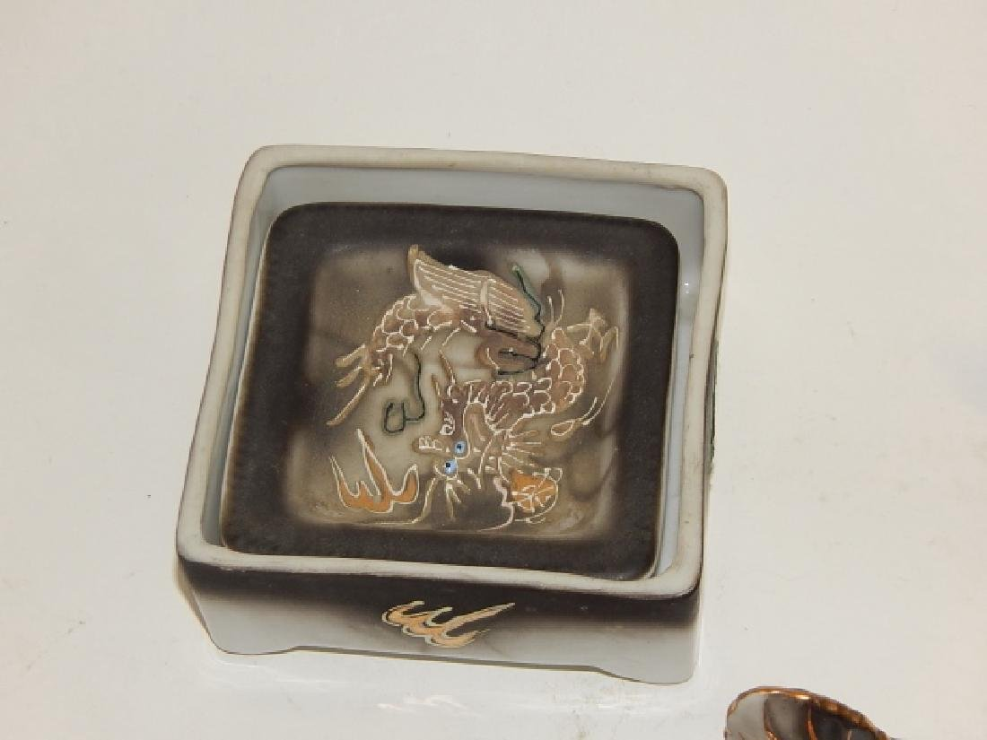 ASSORTED DRAGONWARE COVERED BOX, ASH TRAYS, & MORE - 5